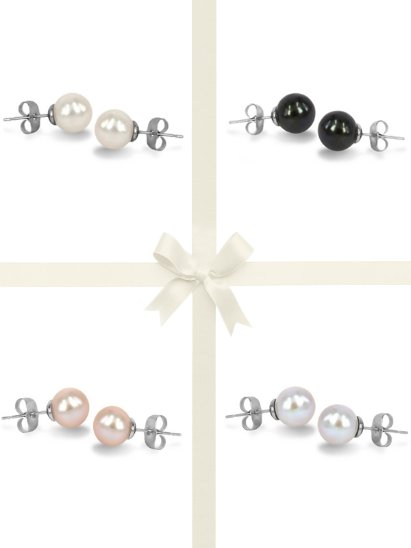 PACIFIC PEARLS MARIA-THERESA REEF COLLECTION Four-Piece Stud Earring Gift Set