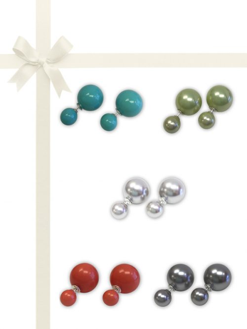 PACIFIC PEARLS OYSTER BAY COLLECTION Five-Piece Reversible Earring Gift Set