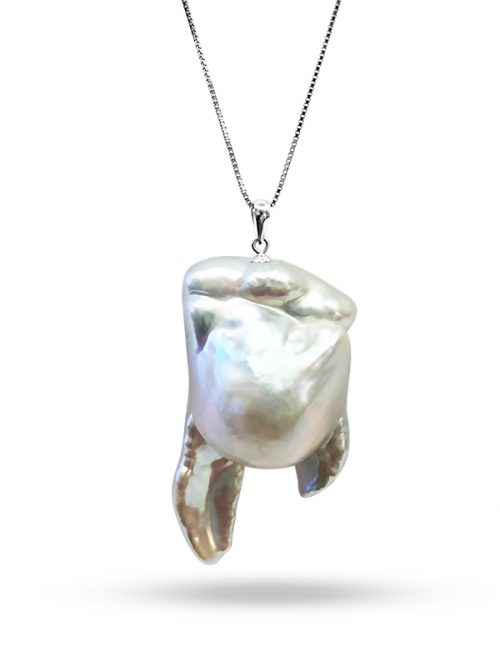 PACIFIC PEARLS POLYNESIA COLLECTION White 25-30mm Giant Baroque Pearl Pendant