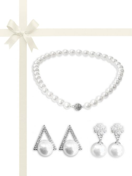 PACIFIC PEARLS VANUATU COLLECTION Three-Piece Necklace and Earring Gift Set