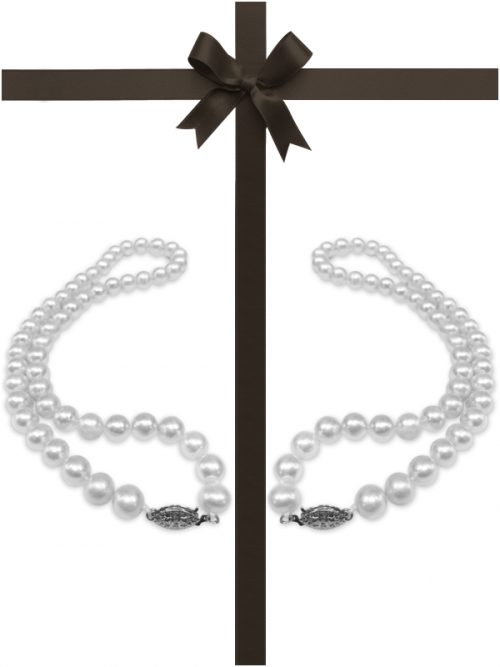 MARIA-THERESA REEF COLLECTION Mother and Daughter White Pearl Necklace Gift Set