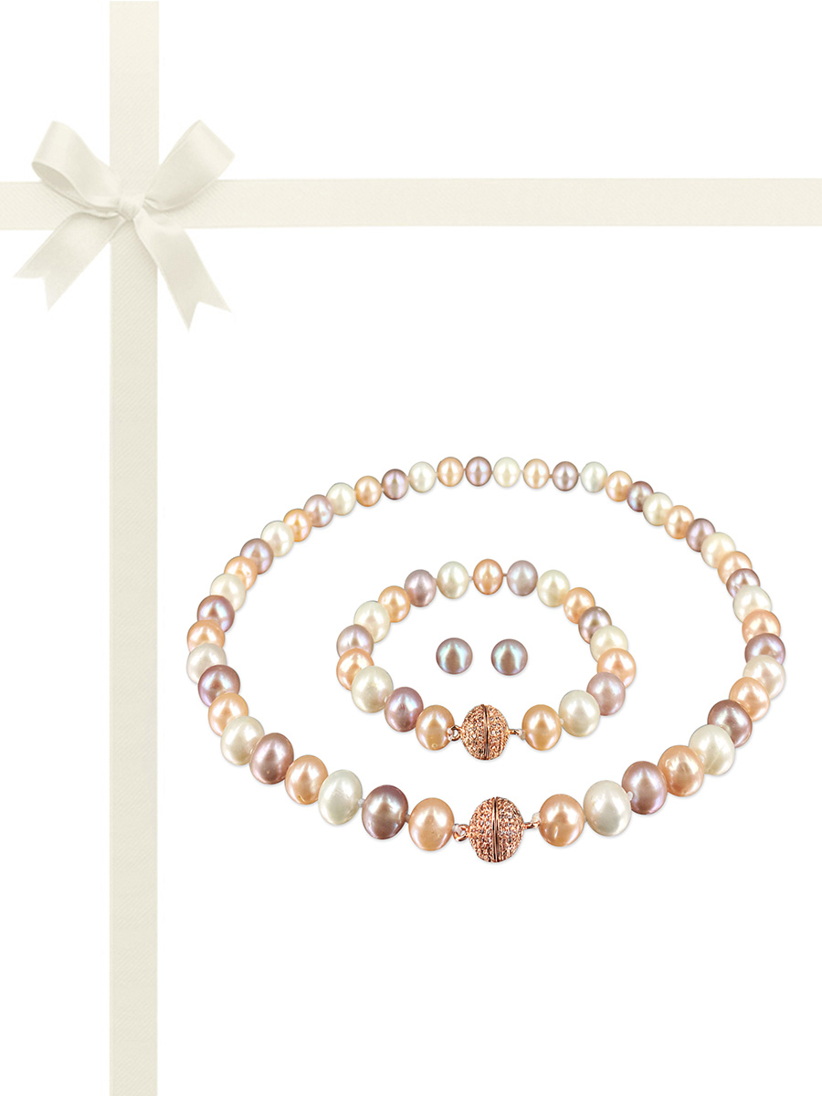 PACIFIC PEARLS MARIA-THERESA REEF COLLECTION Pastel Bouquet Pearl Gift Set