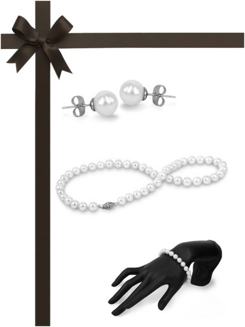 MARIA-THERESA REEF COLLECTION White Pearl Three-Piece Gift Set