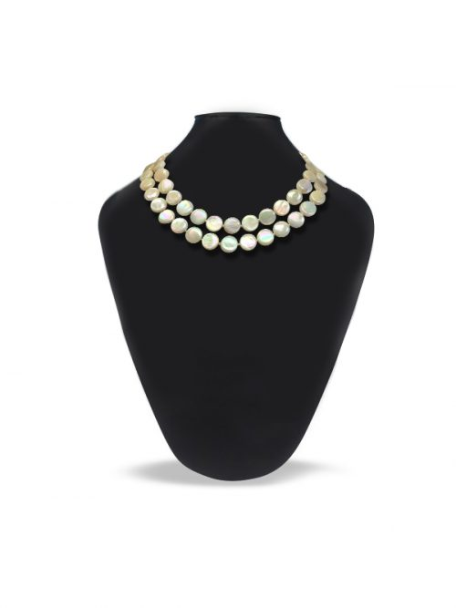 OYSTER BAY COLLECTION DOUBLE STRAND MOTHER-OF-PEARL IVORY NECKLACE