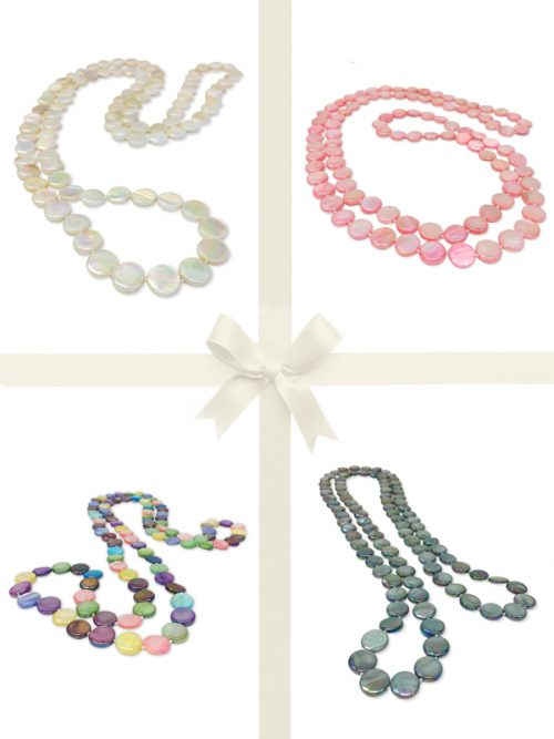 OYSTER BAY COLLECTION Double Strand Mother-of-Pearl Necklace Gift Set-