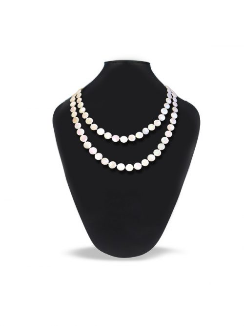 OYSTER BAY COLLECTION IVORY MOTHER OF PEARL DOUBLE STRAND NECKLACE