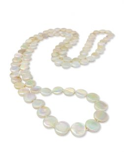 PACIFIC PEARLS OYSTER BAY COLLECTION Ivory Double Strand Mother-of-Pearl Necklace