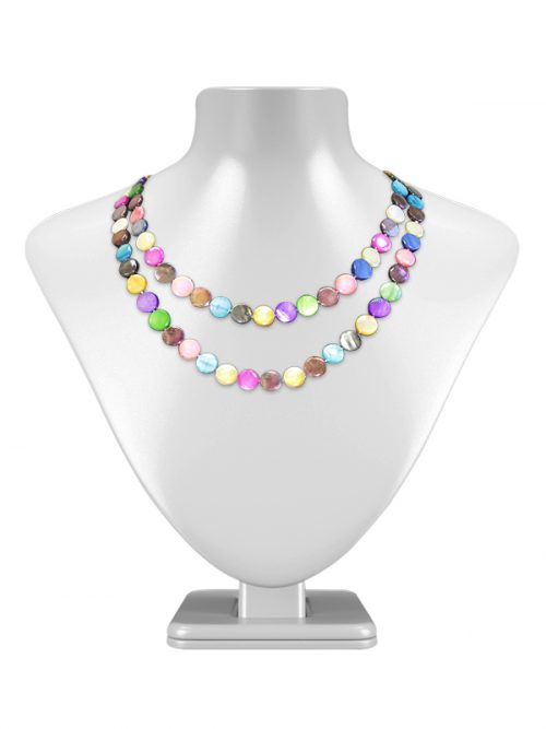 PACIFIC PEARLS OYSTER BAY COLLECTION Kaleidoscopic Double Strand Mother-of-Pearl Necklace