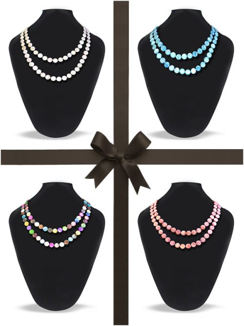 OYSTER BAY COLLECTION Mother-of-Pearl Necklace Gift Set