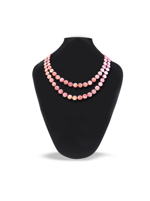 OYSTER BAY COLLECTION ROSE MOTHER OF PEARL DOUBLE STRAND NECKLACE