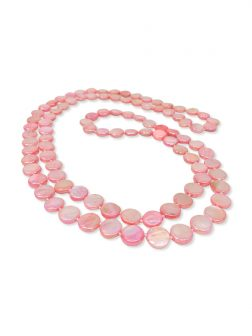 PACIFIC PEARLS OYSTER BAY COLLECTION Rose Double Strand Mother-of-Pearl Necklace