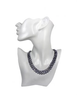 PACIFIC PEARLS ROYAL FALLS COLLECTION Indigo 9-10mm Double Strand Pearl Necklace