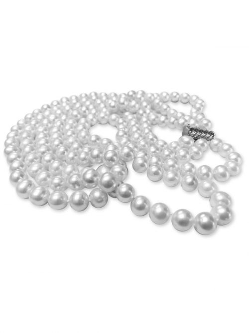 PACIFIC PEARLS ROYAL FALLS COLLECTION Ivory 7-8mm Triple Strand Pearl Necklace