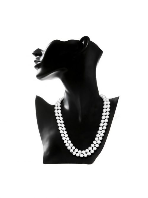 PACIFIC PEARLS ROYAL FALLS COLLECTION Ivory 9-10mm Double Strand Pearl Necklace