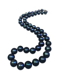 PACIFIC PEARLS MARIA-THERESA REEF COLLECTION Indigo 9-10mm Pearl Necklace