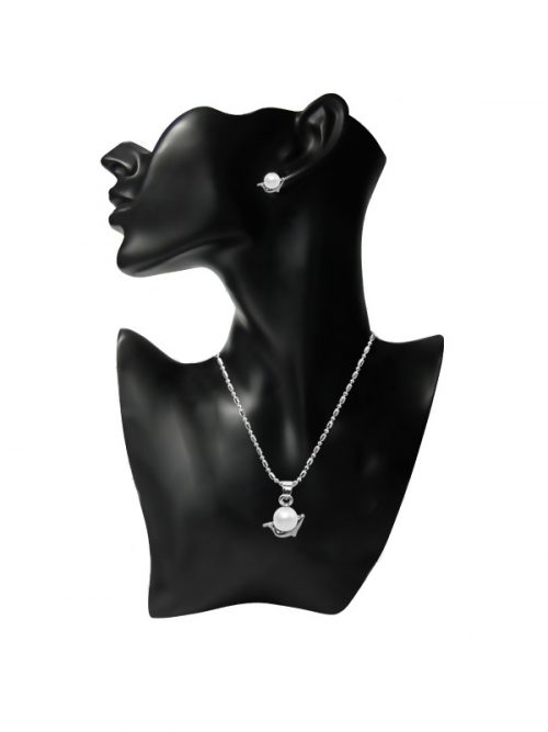 MERMAID BEACH COLLECTION DOLPHIN PEARL PENDANT AND EARRINGS