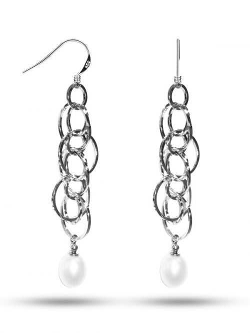 PACIFIC PEARLS NEW CALEDONIA COLLECTION Infinity Drop White Pearl Earrings