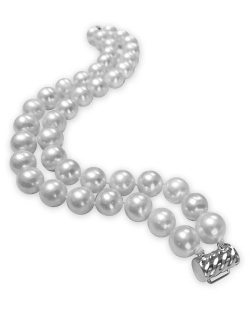 PACIFIC PEARLS ROYAL FALLS COLLECTION Ivory 9-10mm Double Strand Pearl Bracelet