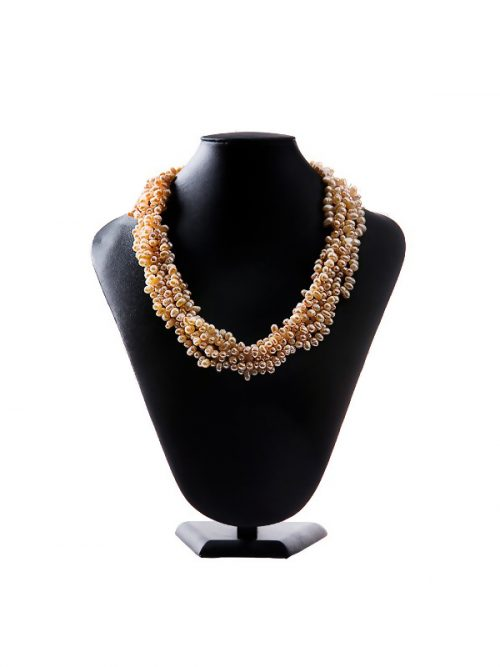 PACIFIC PEARLS KIRIBATI COLLECTION Peach Baroque Pearl Necklace and Bracelet Set