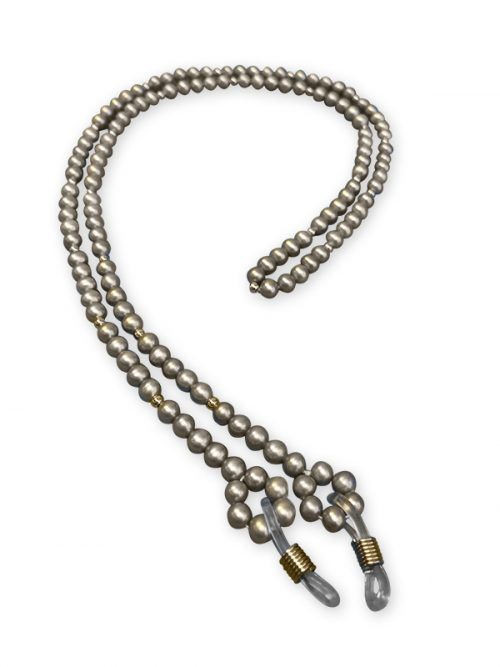 TERAINA COVE COLLECTION SILVER PEARL EYEWEAR NECKLACE
