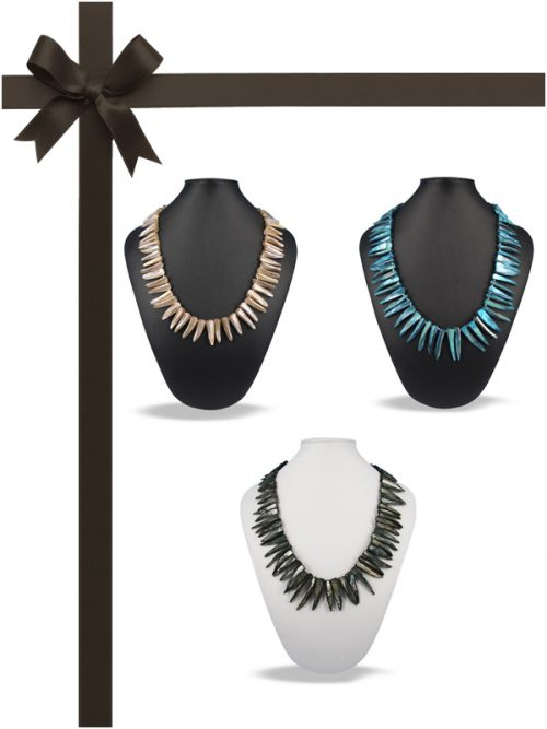 ALOHA COLLECTION Mother-of-Pearl Necklace Gift Set