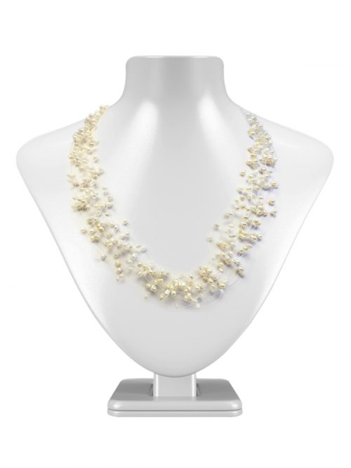 KIRIBATI COLLECTION WHITE TEN STRAND FANTASY PEARL NECKLACE