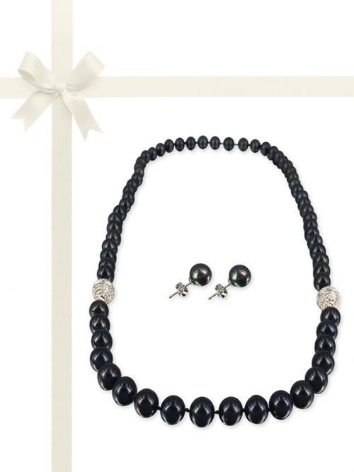 PACIFIC PEARLS MARIA-THERESA REEF COLLECTION Black Petunia Pearl Gift Set