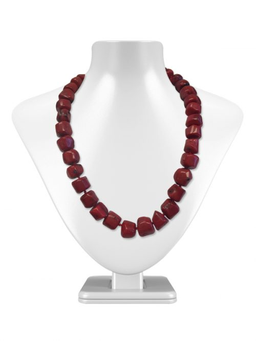 MAUNA LOA COLLECTION BAROQUE OXBLOOD CORAL NECKLACE