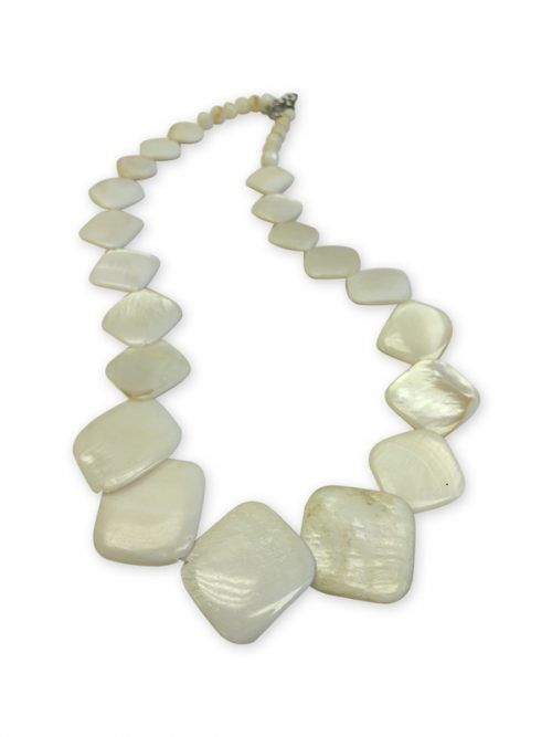 PACIFIC PEARLS OYSTER BAY COLLECTION Vanilla Square Mother-of-Pearl Necklace