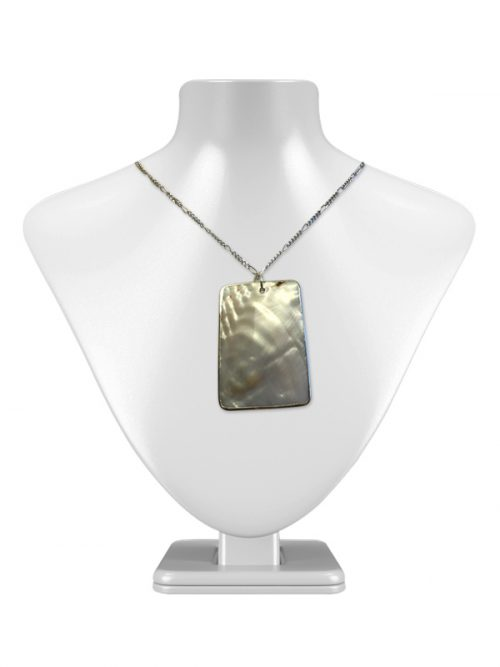 KIRIBATI COLLECTION BAROQUE MOTHER-OF-PEARL MESA PENDANT ON 925 STERLING SILVER CHAIN