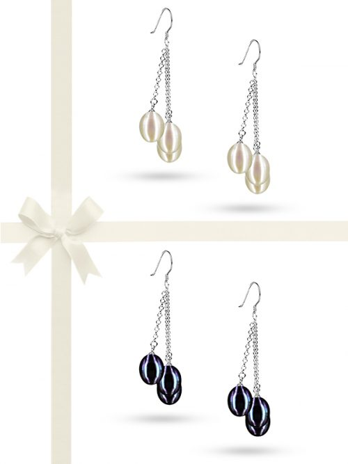 SULU SEA COLLECTION 7-8MM TRIPLE DROP PEARL EARRING GIFT SET