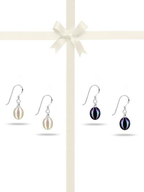 PACIFIC PEARLS SULU SEA COLLECTION Drop Pearl Earring Gift Set