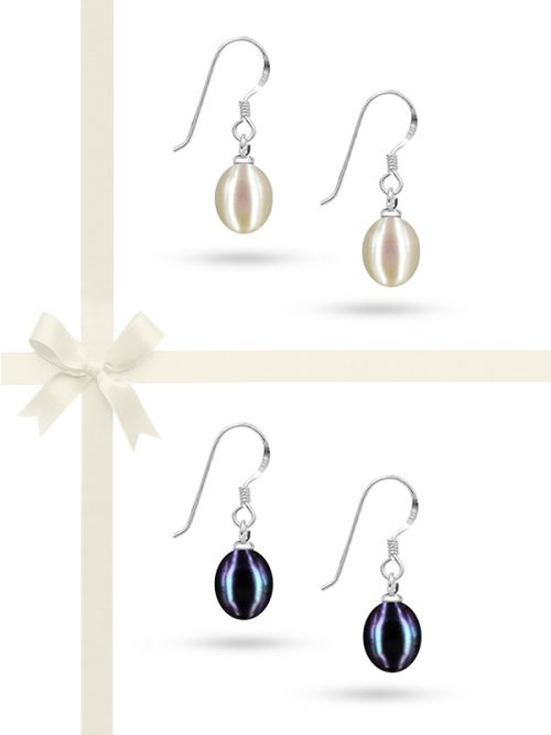 SULU SEA COLLETION 9-10MM DROP PEARL EARRING GIFT SET