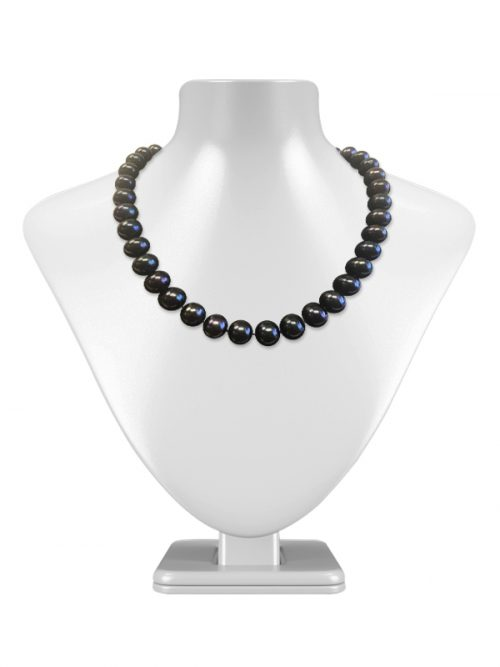 PACIFIC PEARLS TARA ISLAND COLLECTION Black 11-12mm Pearl Necklace