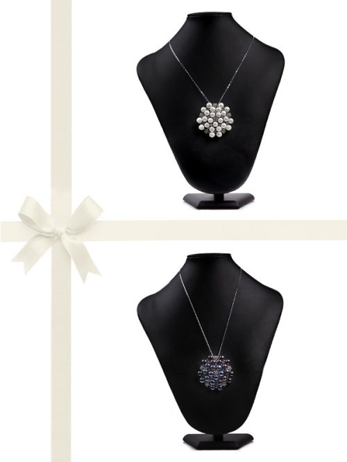 PACIFIC PEARLS TARA ISLAND COLLECTION Pearl Pendant and Brooch Gift Set