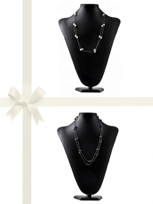 PACIFIC PEARLS TERAINA COVE COLLECTION Two-Piece Pearl Necklace Gift Set