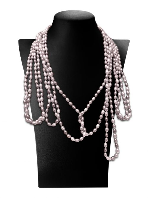 PACIFIC PEARLS TERAINA COVE COLLECTION Lavender 180 Inch Pearl Necklace