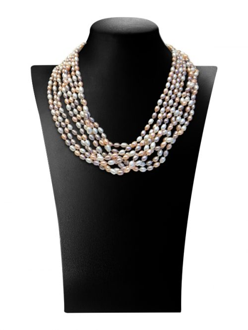 PACIFIC PEARLS TERAINA COVE COLLECTION Pastel 180 Inch Pearl Necklace