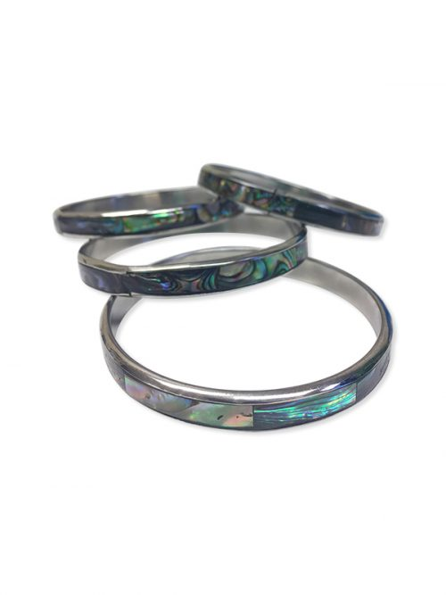 ALOHA COLLECTION Abalone Statement Bangle