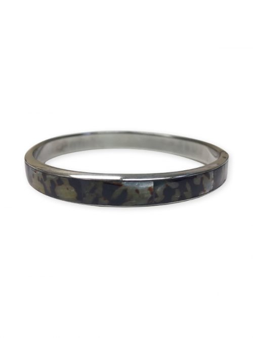 PACIFIC PEARLS ALOHA COLLECTION Rustic Mother-of-Pearl Statement Bangle