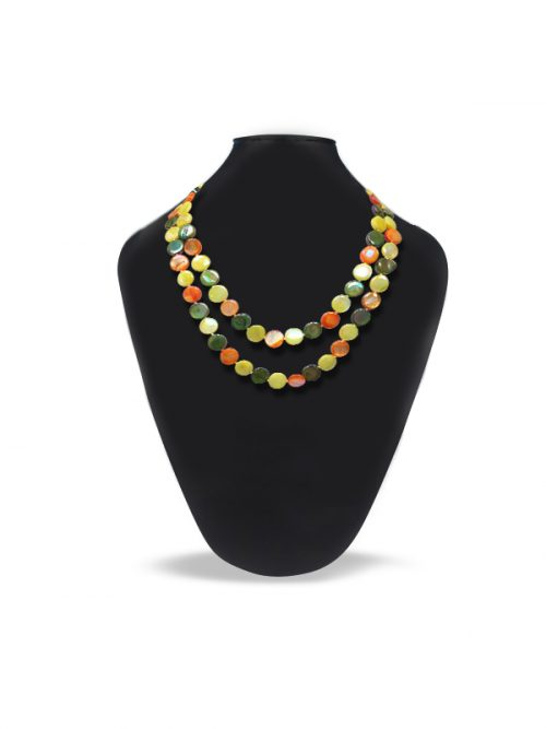 OYSTER BAY COLLECTION DOUBLE STRAND CITRUS MOTHER-OF-PEARL NECKLACE
