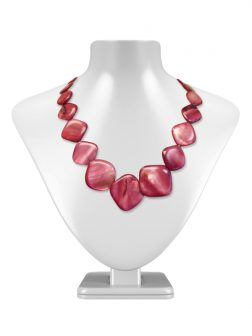 PACIFIC PEARLS OYSTER BAY COLLECTION Dusty Rose Square Mother-of-Pearl Necklace