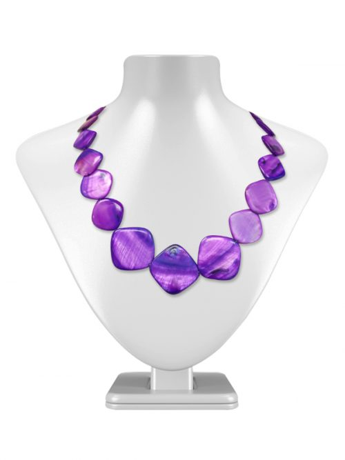 OYSTER BAY COLLECTION Square Violet Mother-of-Pearl Necklace