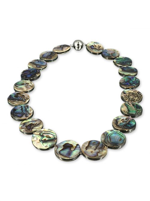 ALOHA COLLECTION 20mm Abalone Statement Necklace