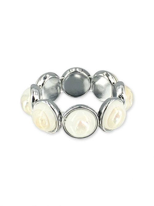 KIRIBATI COLLECTION Baroque Pearl Stretch Bracelet