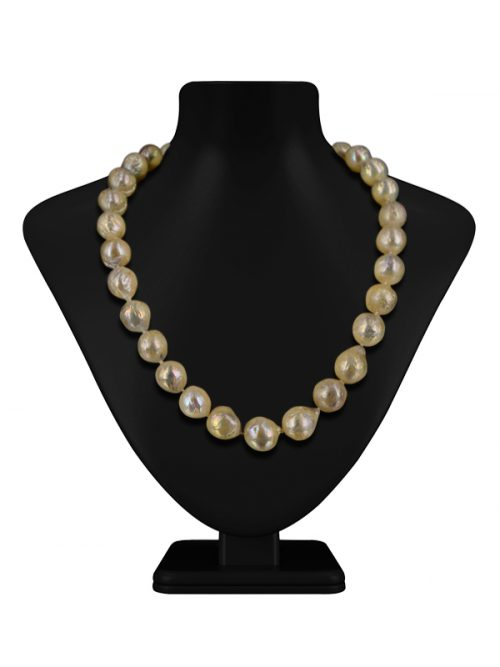 MAUNA LOA COLLECTION WHITE RIPPLE PEARL 11-14MM NECKLACE