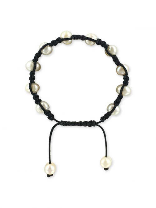 MERMAID BEACH COLLECTION 7-9mm Yin Yang Pearl Friendship Bracelet