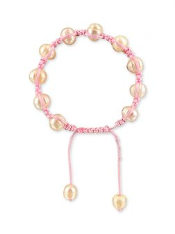 PACIFIC PEARLS MERMAID BEACH COLLECTION Bubblegum Shamballa Pearl Bracelet