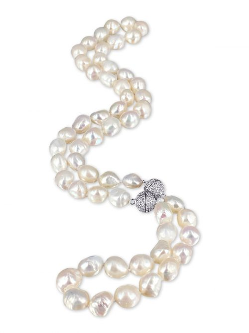 PACIFIC PEARLS MERMAID BEACH COLLECTION Foam Soufflé Pearl Versatile Necklace & Bracelet Set
