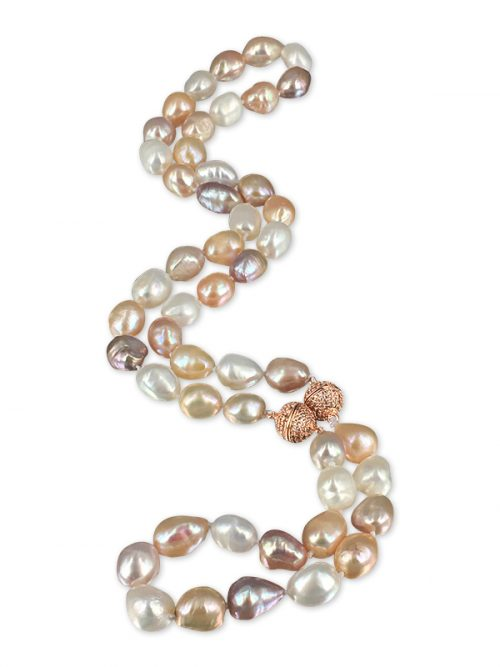 PACIFIC PEARLS MERMAID BEACH COLLECTION Sunrise Soufflé Pearl Versatile Necklace & Bracelet Set